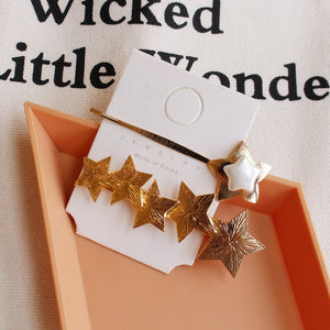Starry Gold Hair Clips - 1 - Starsystems