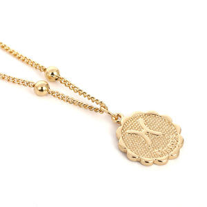 Zodiac Charms Necklace - Pisces / Gold - Starsystems