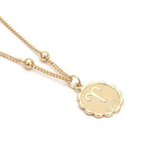 Zodiac Charms Necklace - Aries / Gold - Starsystems