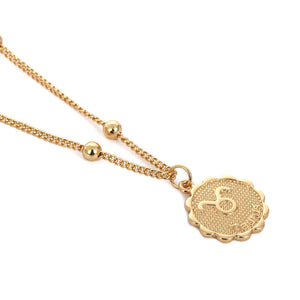 Zodiac Charms Necklace - Taurus / Gold - Starsystems