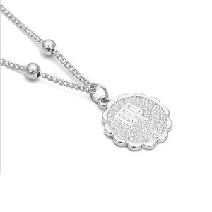 Zodiac Charms Necklace - Virgo / Silver - Starsystems