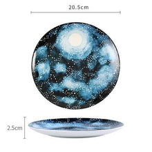 Load image into Gallery viewer, Handmade Ceramic Galaxy Plates - E - Starsystems