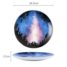 Load image into Gallery viewer, Handmade Ceramic Galaxy Plates - C - Starsystems