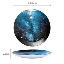 Load image into Gallery viewer, Handmade Ceramic Galaxy Plates - G - Starsystems