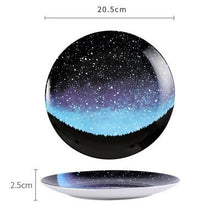 Load image into Gallery viewer, Handmade Ceramic Galaxy Plates - D - Starsystems