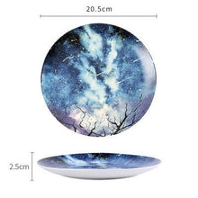 Load image into Gallery viewer, Handmade Ceramic Galaxy Plates - F - Starsystems
