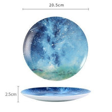 Load image into Gallery viewer, Handmade Ceramic Galaxy Plates - B - Starsystems