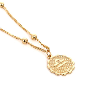 Zodiac Charms Necklace - Libra / Gold - Starsystems