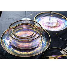 Load image into Gallery viewer, Transparent Galaxy marked Plate Set - - Starsystems