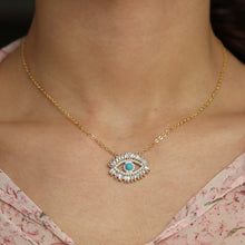 Load image into Gallery viewer, Turquoise Zodiac Eye Necklace - - Starsystems