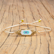 Load image into Gallery viewer, Zodiac Eye Beaded Lace Bracelet - - Starsystems