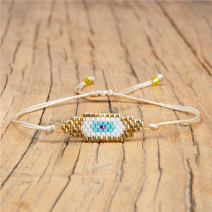 Zodiac Eye Beaded Lace Bracelet - - Starsystems