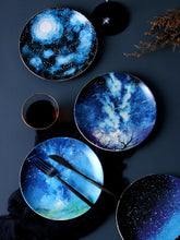 Load image into Gallery viewer, Handmade Ceramic Galaxy Plates - - Starsystems