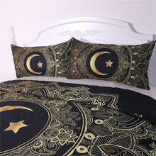 Load image into Gallery viewer, Moon Star Mandala Bedding Set - - Starsystems