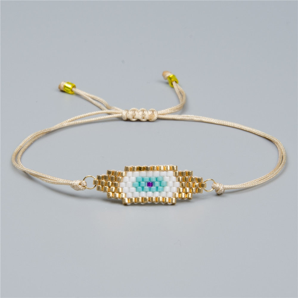 Zodiac Eye Beaded Lace Bracelet - MI-B180330B Eye - Starsystems