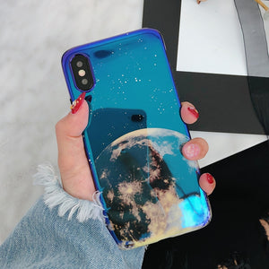 Metallic Blue Universe iPhone case - - Starsystems