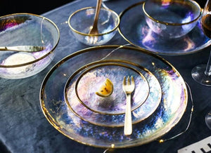 Transparent Galaxy marked Plate Set - - Starsystems