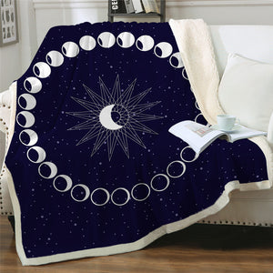 Phases of the Moon Sherpa Blanket - - Starsystems