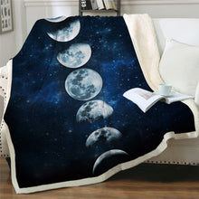 Load image into Gallery viewer, Phases of the Moon Sherpa Blanket - - Starsystems