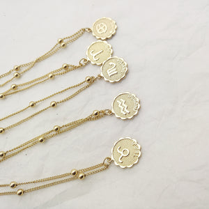 Zodiac Charms Necklace - - Starsystems
