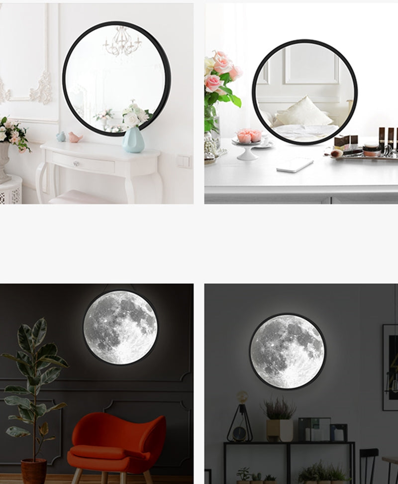 2 in 1 Moon Lamp/ Mirror - A: 24 x 24 cm - Starsystems