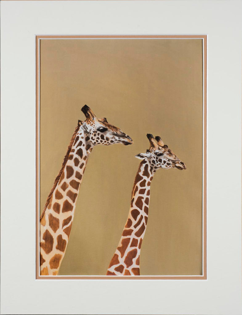 Giraffe pair,  limited edition
