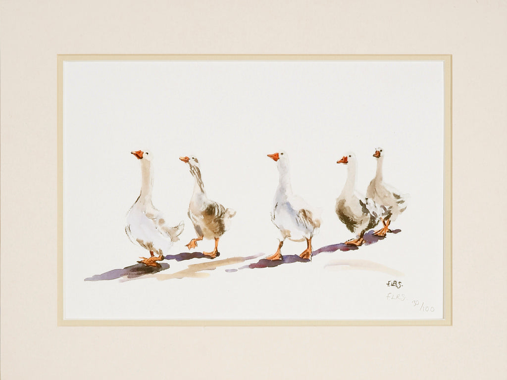 Geese print, limited edition print