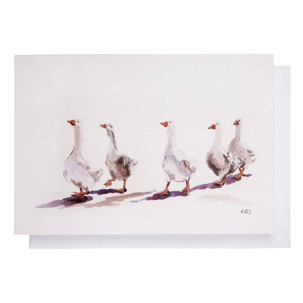Greeting card: Geese