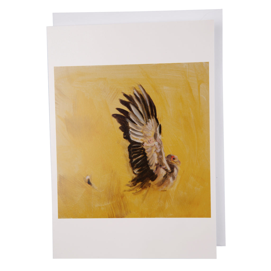 Greeting card: secretary bird