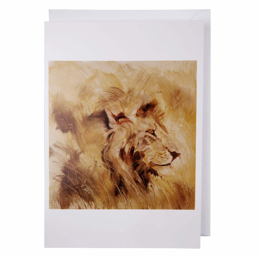 Greeting card: Lion