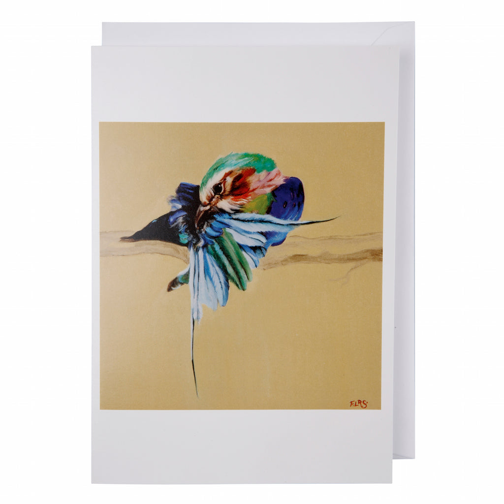 Greeting card: Lilac breasted roller
