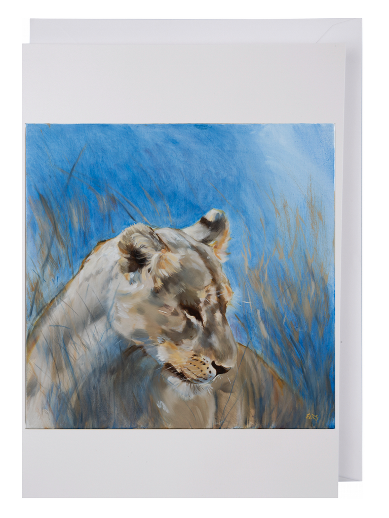 Greeting card: Lioness