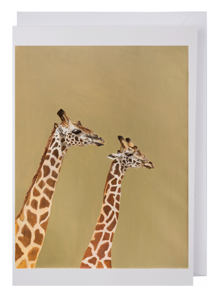 Greeting card: Giraffe Pair