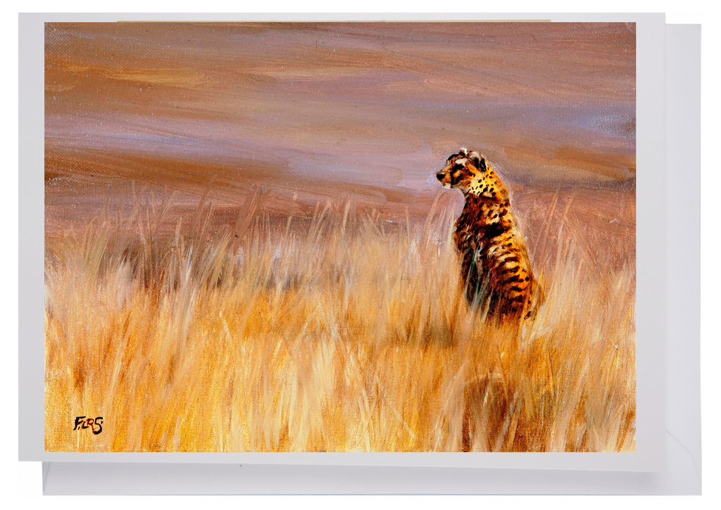 Greeting card: Cheetah