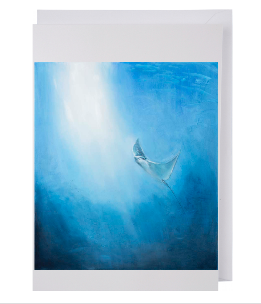 Greeting card: Eagle Ray