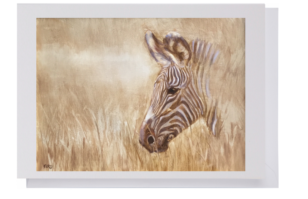 Greeting card: Zebra