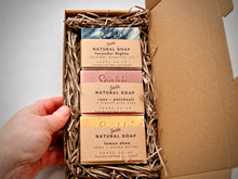 Load image into Gallery viewer, Letterbox gift of 3 handmade soap - Choose your own