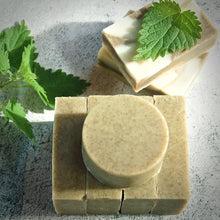 Load image into Gallery viewer, nettle herbal soap green rectangular hand made soap