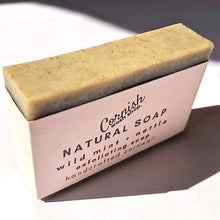 Load image into Gallery viewer, mint, rosemary + nettle soap - a fresh herby aroma rosemary & peppermint essential oils