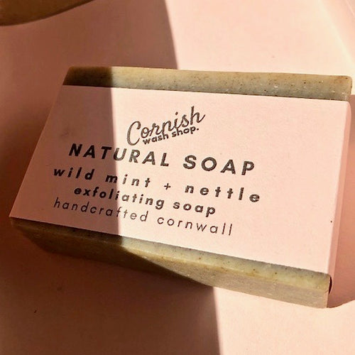 mint, rosemary + nettle soap - a fresh herby aroma rosemary & peppermint essential oils