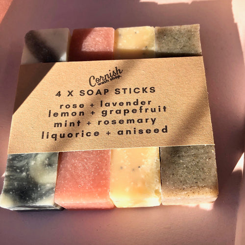 4 x soap stick set - All natural ingredients non drying with essential oils - try the range