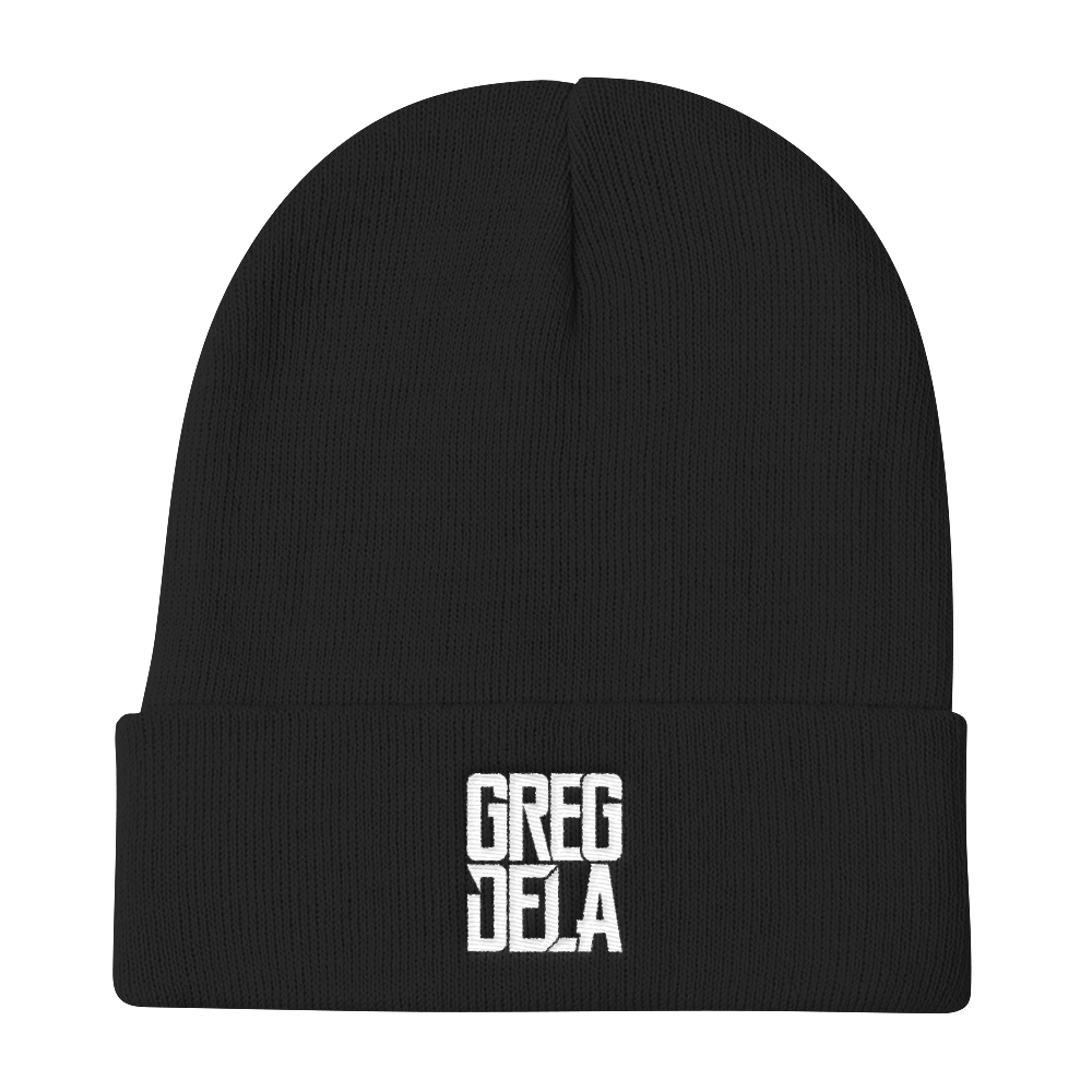 TEAMDELA™ BLACK/GREY BEANIE