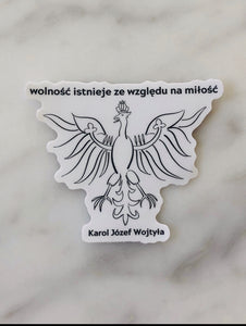 St John Paul II Quote Sticker