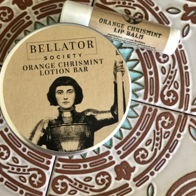 Bellator Orange Chrismint Lotion Bar