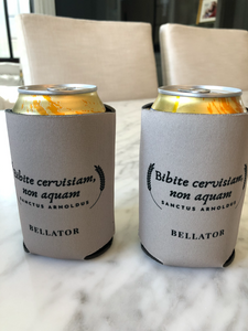 Koozie Bibite cervisiam non aquam drink beer not water Saint Arnold