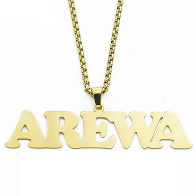 Stainless Steel Charm Personalized Name Necklace