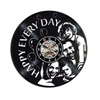 Image of Personal Custom Made Black Vinyl Record Wall Clock