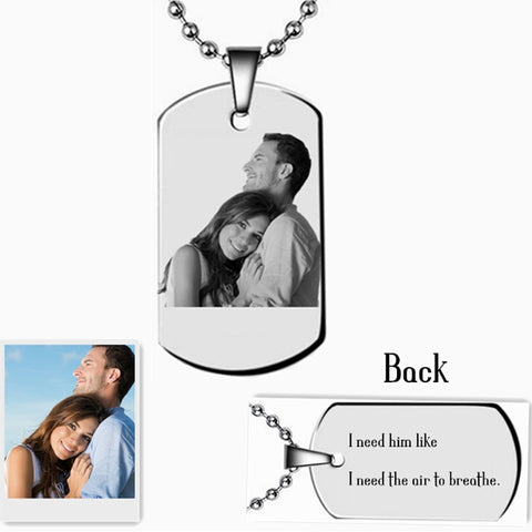 Personalized Necklace With Photo/Names/Words And Font Style