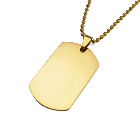 Beautiful Rectangle Personalized Pendant Necklace