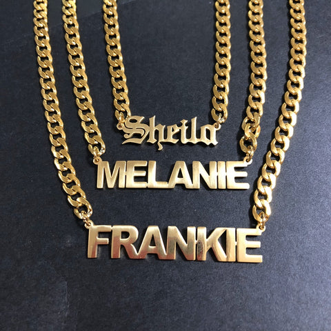Story Teller Name Necklace